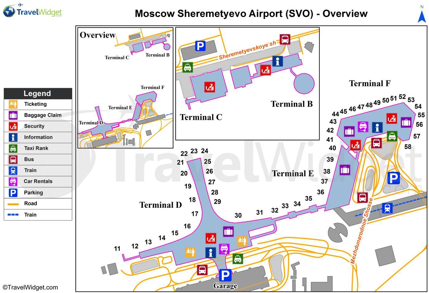 aeroporto internacional sheremetyevo mapa - sheremetyevo
